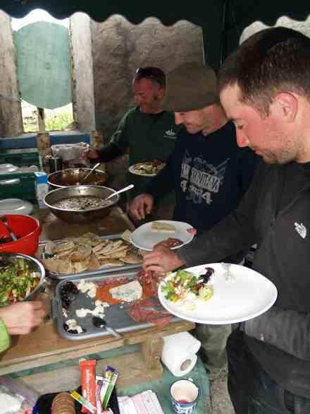 Dinner on Inishark